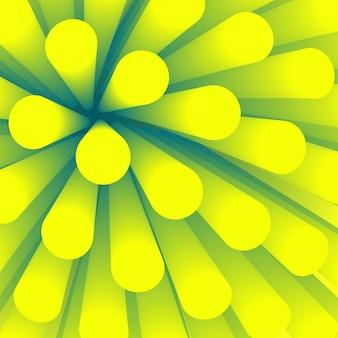 Sfondo astratto. elemento di sfondo in prospettiva. carta da parati con tubo sfumato liscio. villi di struttura verde nel modello di medicina.