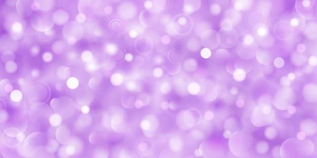 Sfondo astratto di cerchi traslucidi grandi e piccoli in colori viola con effetto bokeh