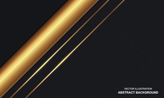 Sfondo astratto nero e dorato di lusso moderno
