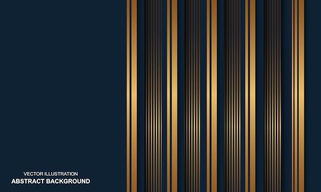 Sfondo astratto blu dop con linee dorate design moderno