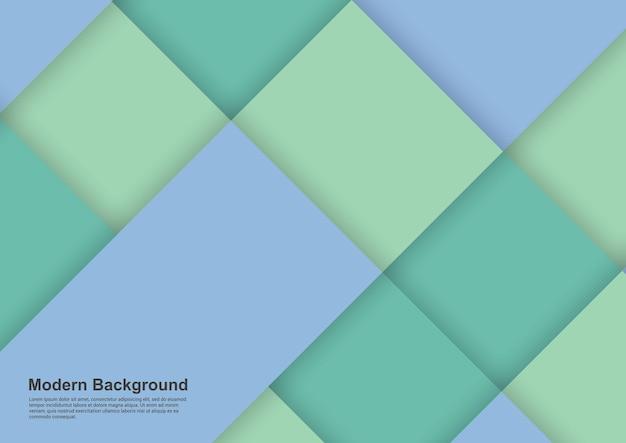 Sfondo astratto blu e verde design moderno