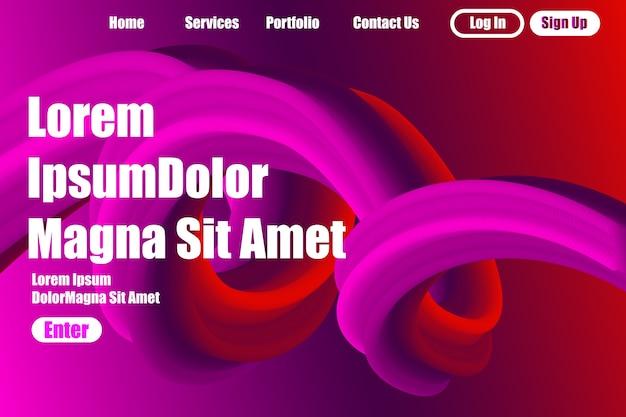 Fondo astratto per progettazione della pagina di atterraggio di concetto startup di affari. Vettore Premium
