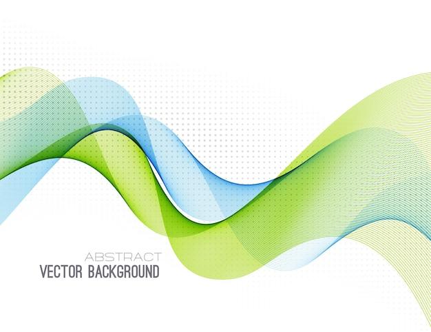 Il flusso di colore di sfondo astratto ha sventolato le linee per la brochure