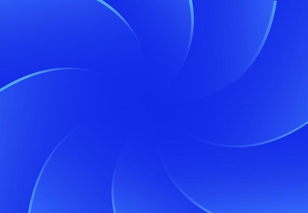 Sfondo astratto di linee curve nei colori blu scuro composizione di forme dinamiche