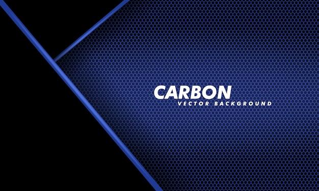 Sfondo astratto in fibra di carbonio blu scuro e nero. illustrazione vettoriale. fondo del carbonio di progettazione moderna di tecnologia.