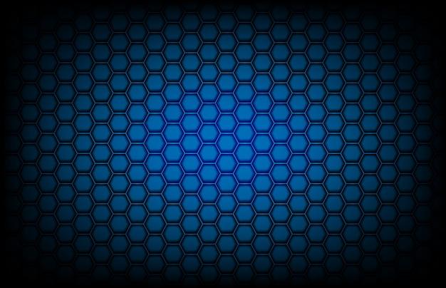 Fondo astratto del fondo blu scuro del modello di esagono