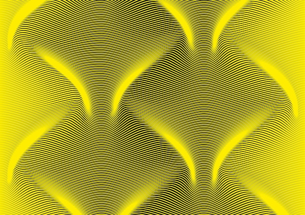 Sfondo astratto di linee diagonali curve in una sinusoide. onda lunga e liscia nello spazio. differenza di spessore che simula il volume. sfondo a righe per pagina di presentazione. texture linea moderna creativa.