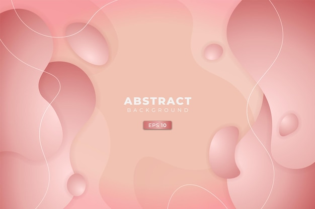 Astratto sfondo dinamico 3d fluido sfumato morbido colore pastello rosa