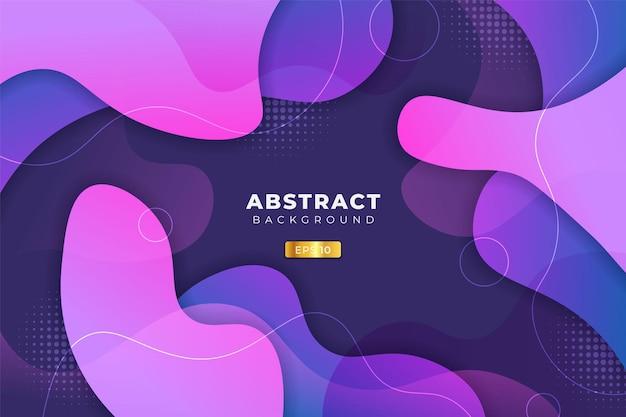 Sfondo astratto dinamico astratto fluido forma sfumatura viola e rosa