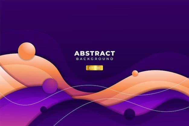 Sfondo astratto dinamico astratto forma sovrapposta sfumatura colorata con palline