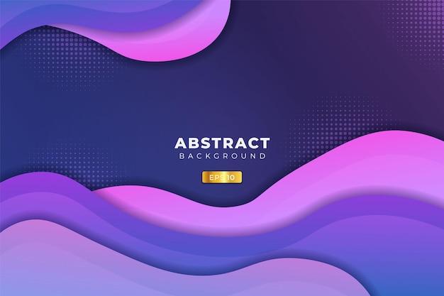 Sfondo astratto dinamico astratto forma sovrapposta gradiente blu, viola e rosa