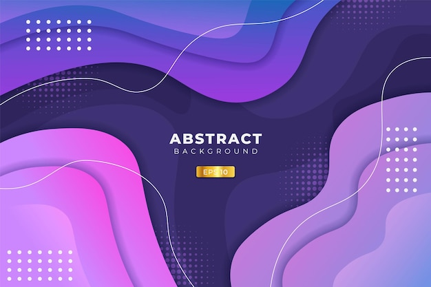 Sfondo astratto dinamica forma astratta sfumatura blu, viola e rosa