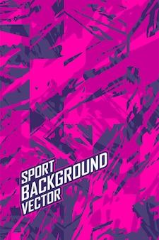 Sfondo astratto per squadra di jersey estremo, corse, ciclismo, leggings, calcio, gioco e livrea sportiva.