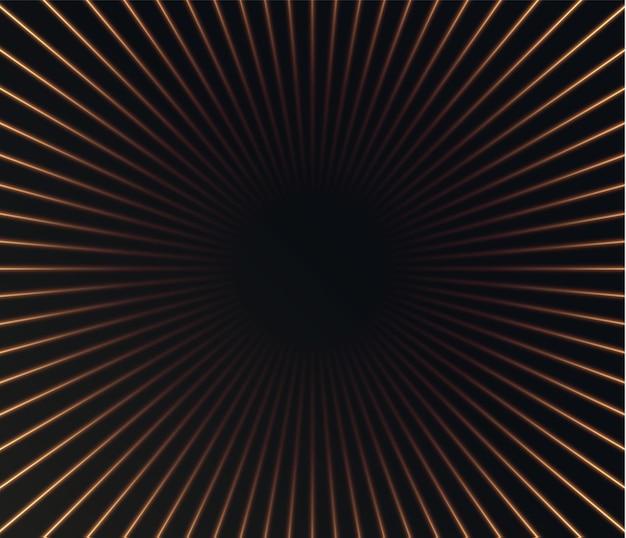 Il fondo astratto dalle linee verticali dorate accelera il fondo di tecnologia