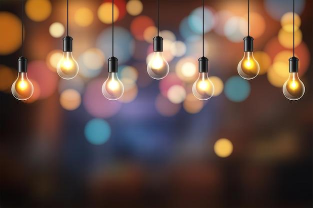 Sfondo astratto. design di lampadine incandescenti