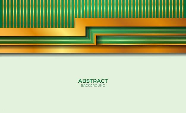Sfondo astratto in stile oro e verde