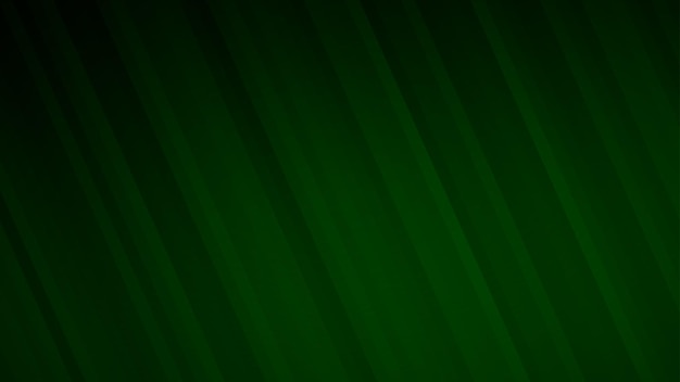 Sfondo astratto di strisce sfumate in colori verde scuro