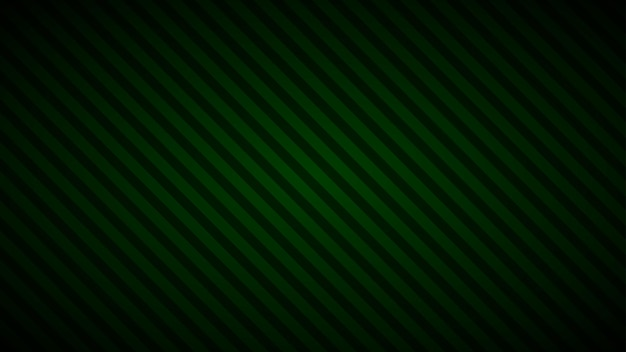 Sfondo astratto di strisce inclinate in colori verde scuro
