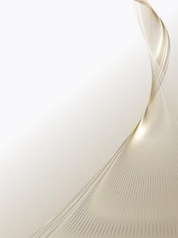 Sfondo astratto di linee d'oro di lusso