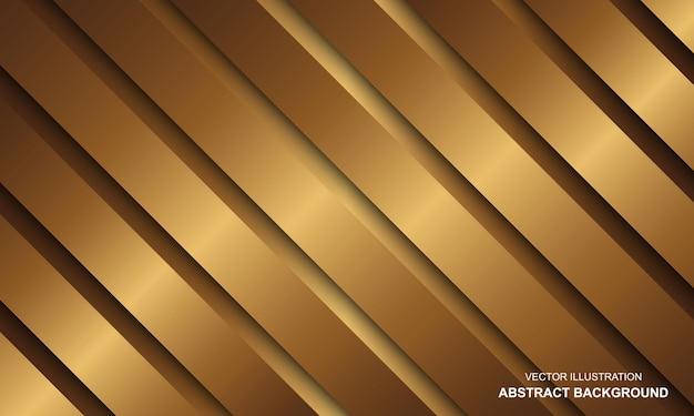 Sfondo astratto lusso linee dorate design moderno