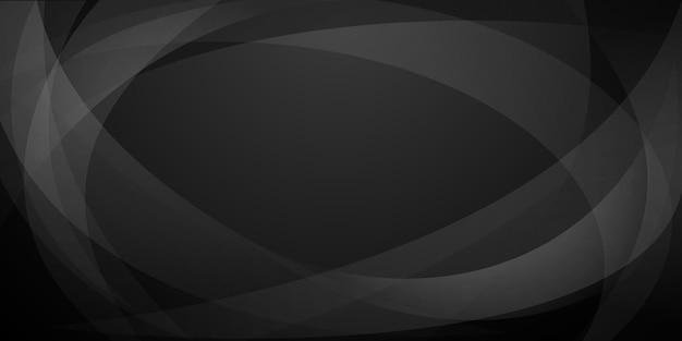 Sfondo astratto fatto di linee curve nei colori nero e grigio