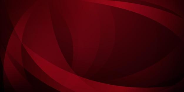 Sfondo astratto fatto di linee curve in colori rosso scuro