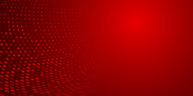 Sfondo astratto fatto di punti mezzatinta in colori rossi