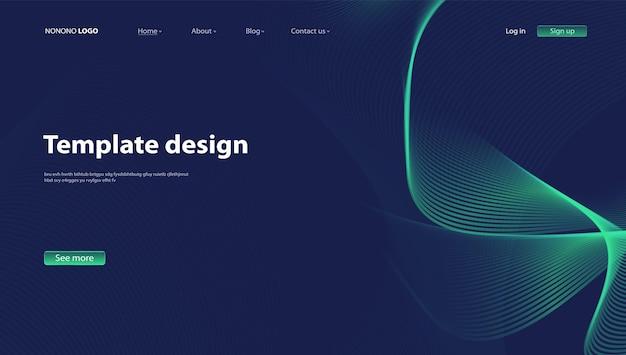 Sfondo astratto design moderno. pagina di destinazione. modello per siti web o app.vector. - vettore