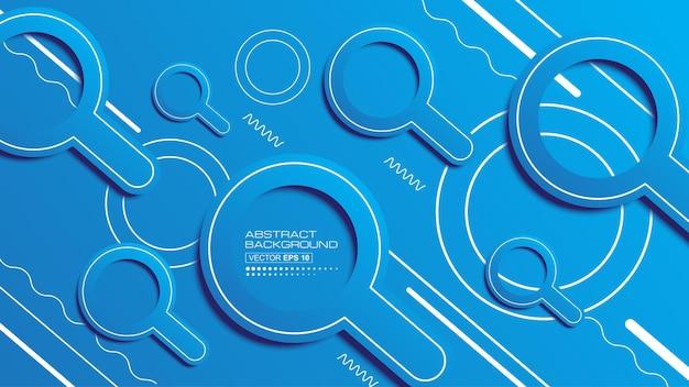 Fondo astratto moderno con il grafico futuristico dell'icona di ricerca