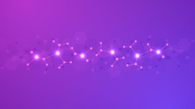 Sfondo astratto di strutture molecolari