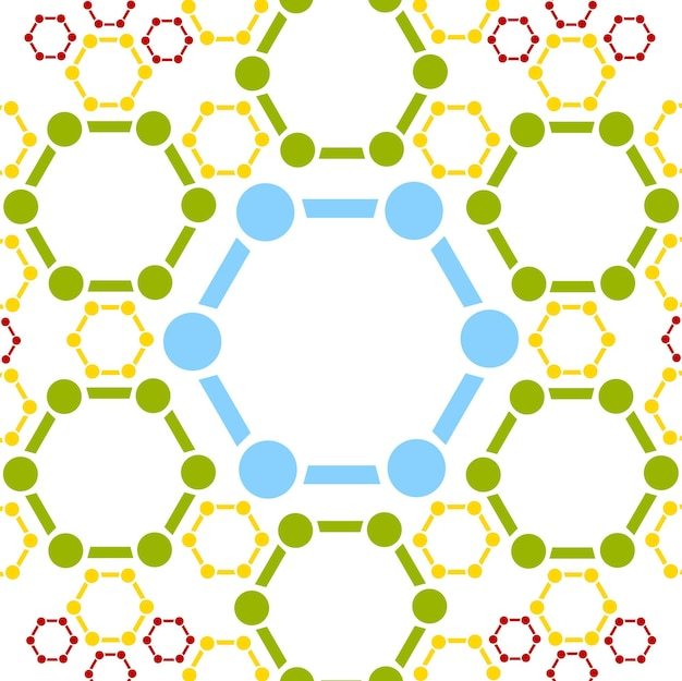 Sfondo astratto della struttura della molecola. disegno vettoriale medico