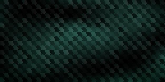 Sfondo astratto di poligoni montati l'uno sull'altro, in colori verde scuro