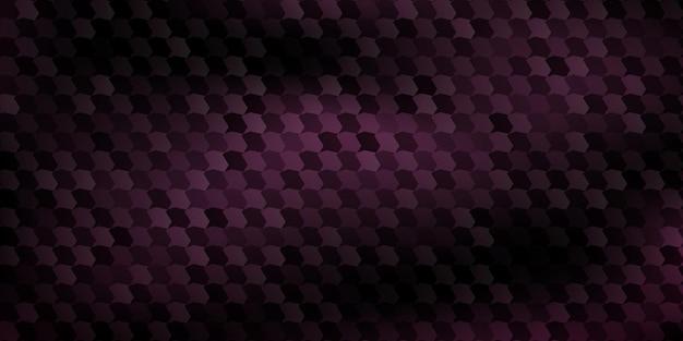 Sfondo astratto di poligoni montati l'uno sull'altro, in colori viola scuro