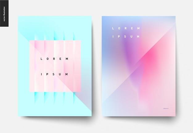 Set di poster astratto sfondo