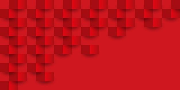 Struttura geometrica rossa del fondo astratto.