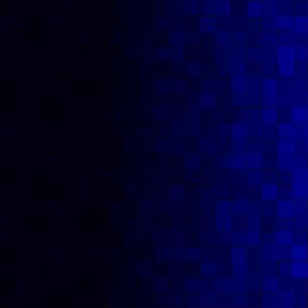 Sfondo astratto di piccoli quadrati nei colori blu scuro con gradiente orizzontale