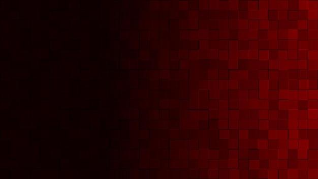 Sfondo astratto di piccoli quadrati in colori rosso scuro con gradiente orizzontale