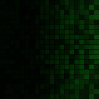 Sfondo astratto di piccoli quadrati in colori verdi con gradiente orizzontale