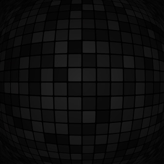 Sfondo astratto di piccoli quadrati o pixel nei colori nero e grigio