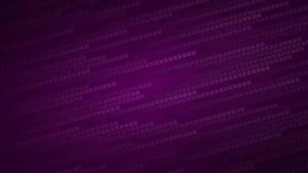 Sfondo astratto di piccoli quadrati o pixel nei toni dei colori viola scuro