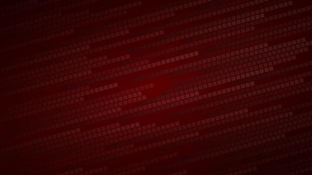 Sfondo astratto di piccoli quadrati o pixel nei toni del rosso scuro