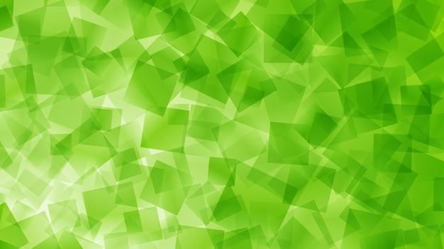 Sfondo astratto di quadrati in colori verdi