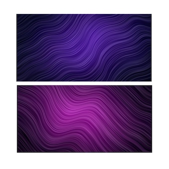 Sfondo astratto. carta da parati a righe. banner impostato in colore viola