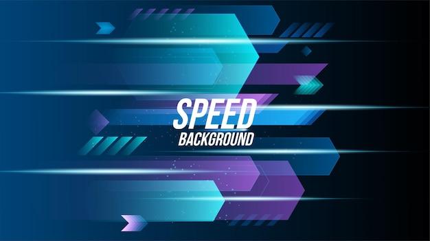 Tecnologia di sfondo astratto corse ad alta velocità per gli sport di lunga esposizione alla luce su sfondo nero. design elegante moderno di forma geometrica di scienza. illustrazione di vettore.