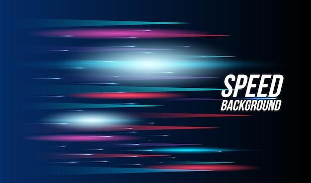 Sfondo astratto tecnologia ad alta velocità da corsa per gli sport di luce a lunga esposizione sul nero