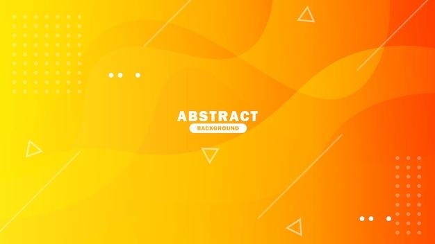 Modello di sfondo astratto sfondo geometrico arancione