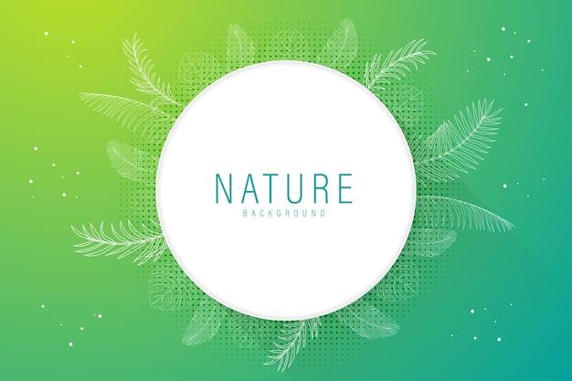 Natura a tema sfondo astratto con elementi decorativi floreali