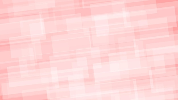 Sfondo astratto di rettangoli traslucidi nei colori bianco e rosso chiaro