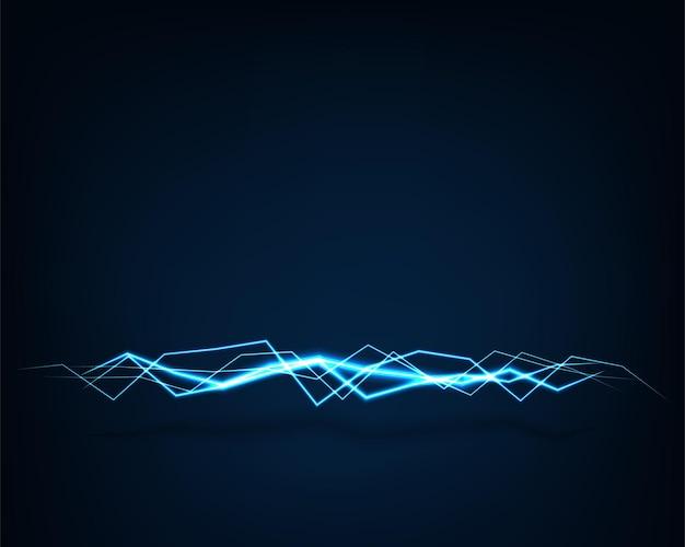 Luce elettrica di vettore astratto del fondo. effetto scintillante. linea curva luminosa. curve luminose al neon.