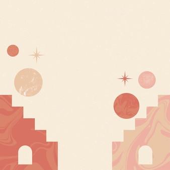 Sfondo astratto e carta da parati illustrazione vettoriale boho graphic design vintage frame illustrat